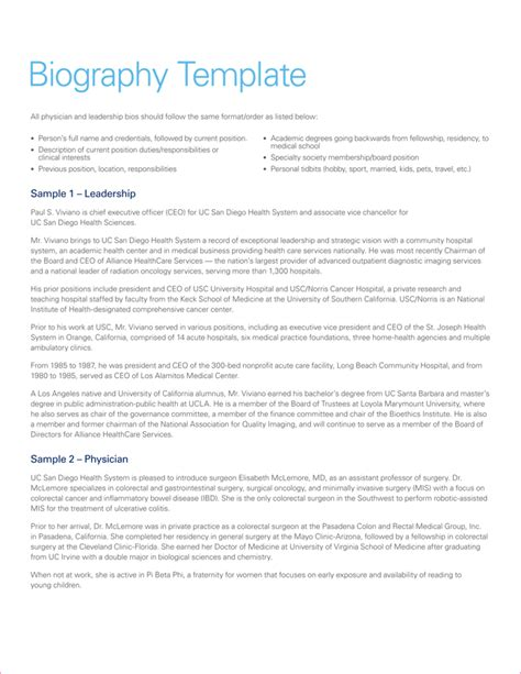 biography template pdf 38 biography templates with images in word pdf