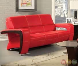 Black And Red Living Room Set Enez Modern Red And Black Living Room Set With V Shape