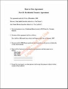Alberta Lease Agreement Template rent to own agreement for alberta sample image