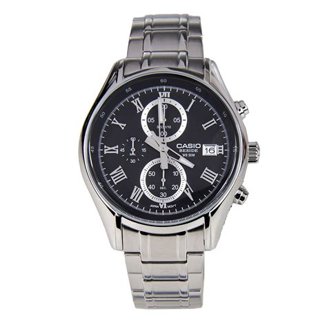 Casio Beside Bem 126d 1avdf Silver Black casio bem 512d 1av beside series men s watchcentre pk