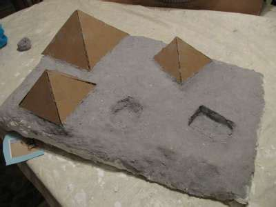 How To Make A Paper Mache Pyramid - how to make an diorama part 2