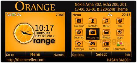 themes nokia orange orange theme for nokia c3 x2 01 asha 200 201 302