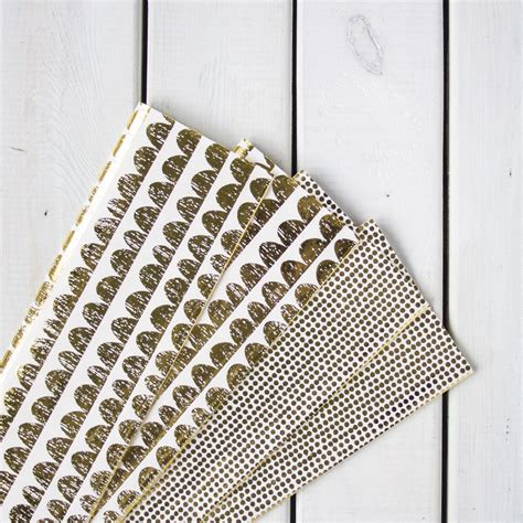 How To Make Foil Paper - gold foil paper pack sew crafty