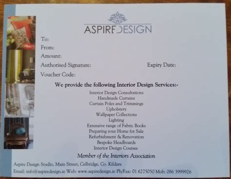 interior design gift certificate the full interior design consultation service aspire design