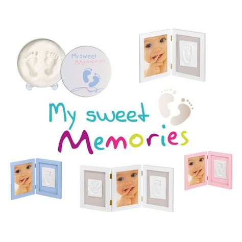 My Sweet Memories Cadre Photo 2 Empreintes Blanc by Logo My Sweet Memories