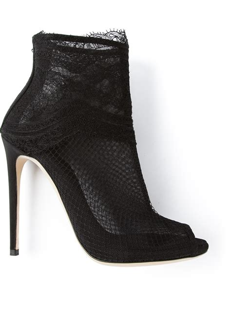 dolce and gabbana boots dolce gabbana lace shoe boot in black lyst