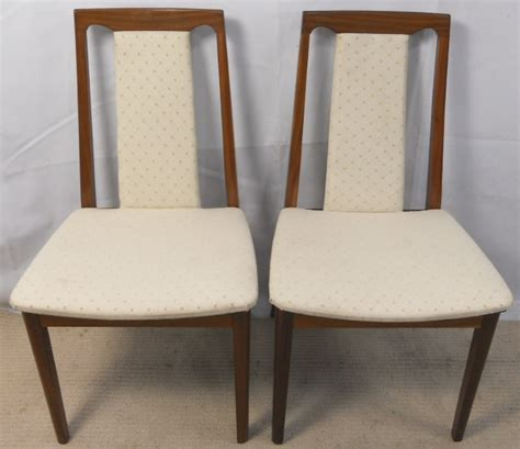 Teak Dining Chairs Upholstered Pair Teak Upholstered Dining Chairs By G Plan