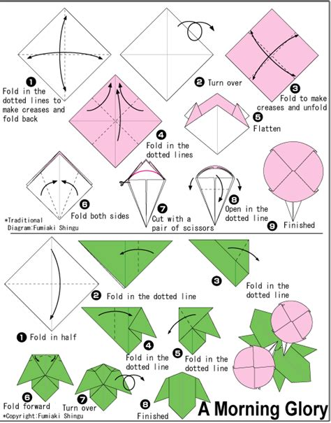 Advanced Origami Flower - diagram