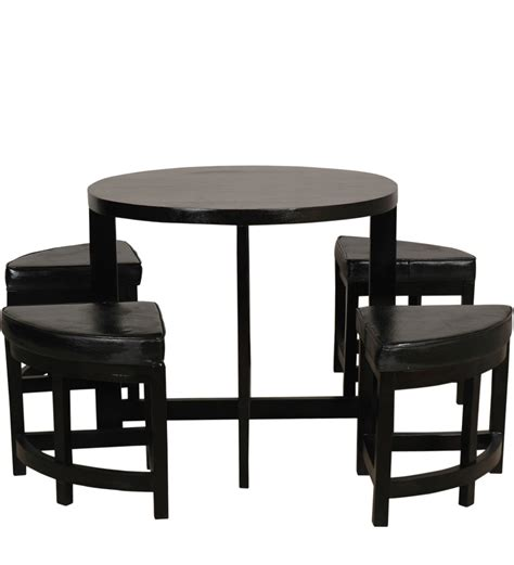 Dining Table Sets Space Saving Space Saving Solid Wood Dining Table Set By Woodsworth By Woodsworth Four Seater