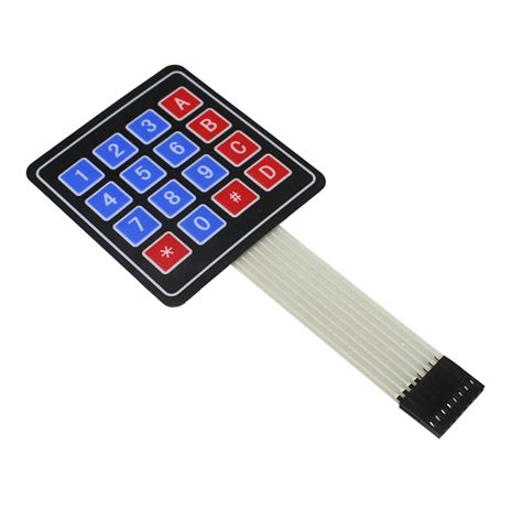 4 Key Membrane Switch 16 key 4 x 4 membrane switch keypad 4x4 4 4 matrix array