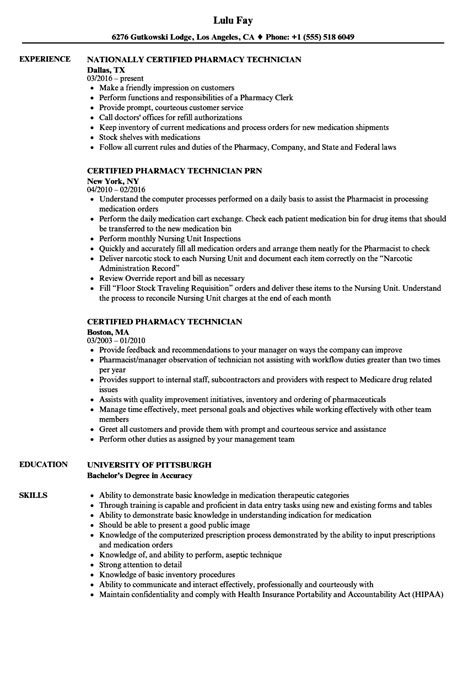 pharmacist resume sample inssite
