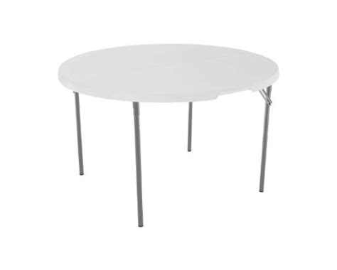 lifetime 4 foot table lifetime 280064 commercial fold in half round table 4