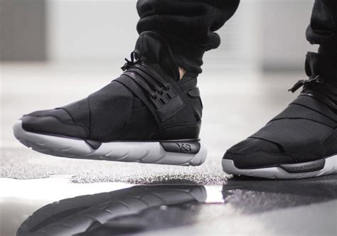Adidas Y 3 Qasa High In Black by More December Heat The Adidas Y 3 Qasa High In Black