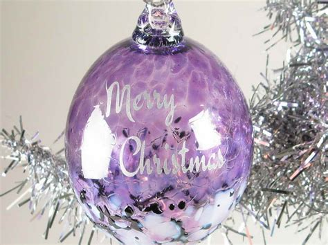 christmas tree decorations purple and silver christmas
