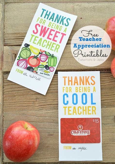 Teacher Appreciation Gift Card Holder Printable - free teacher appreciation printable gift card holders ftm