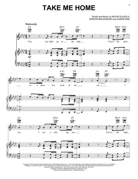 take me home sheet by pentatonix piano vocal