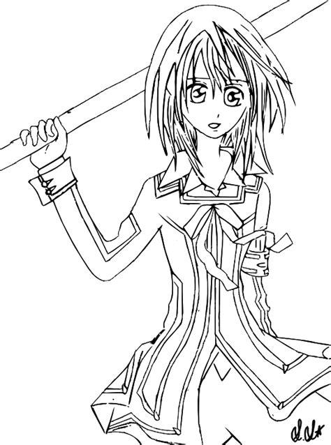 yuuki vampire knight lineart by dreammuffin on deviantart