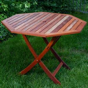 Outdoor Wood Patio Table Eucalyptus Wood 40 Inch Octagon Folding Table Traditional Folding Tables By Overstock