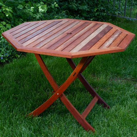 eucalyptus wood 40 inch octagon folding table