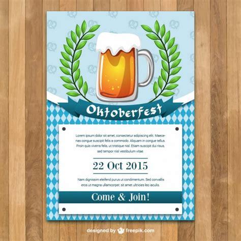 Kostenlose Vorlage Oktoberfest Oktoberfest Plakatschablone Der Kostenlosen Vektor