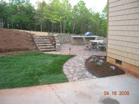 Paver Patio Slope Paver Patio Slope Install A Paver Patio On Slope Building A Patio On A Slope Home How To