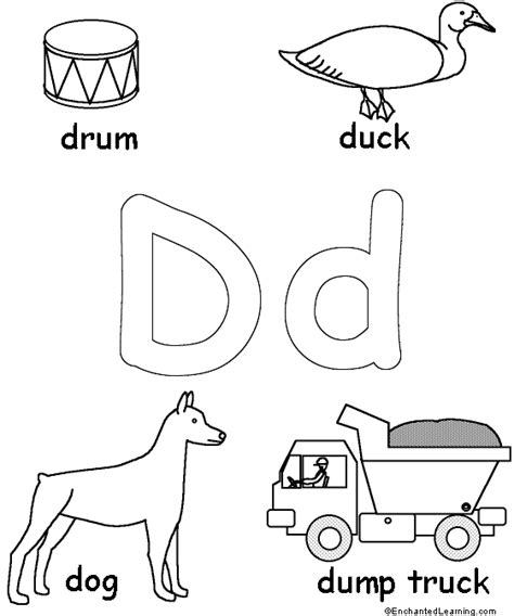 The Letter Dd Color On Pages Coloring Pages For Kids Coloring Letter Dd