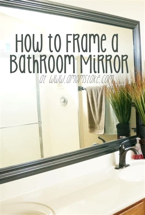 how to frame my bathroom mirror how to frame a mirror the builder s installed a mom s take