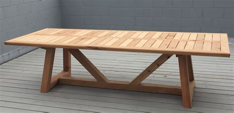 Hand Made Western Red Cedar Outdoor Dining Table By Cedar Dining Table