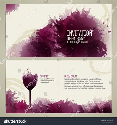 Invitation Template Event Party Suitable Tasting Stock Vector 229902592 Shutterstock Wine Invitation Template Free