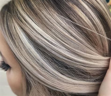 hair foils colour ideas cool ash blonde against a neutral brown made the cut