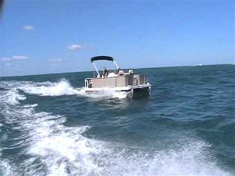 offshore pontoon boats australian pontoon boat offshore sea trials tasman sea