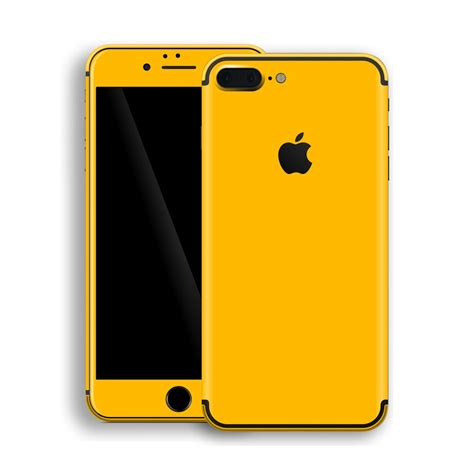 iphone yellow iphone 7 plus glossy golden yellow skin wrap decal easyskinz