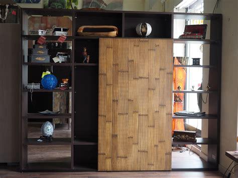 libreria con porta scorrevole libreria etnico moderna con anta scorrevole in legno vano