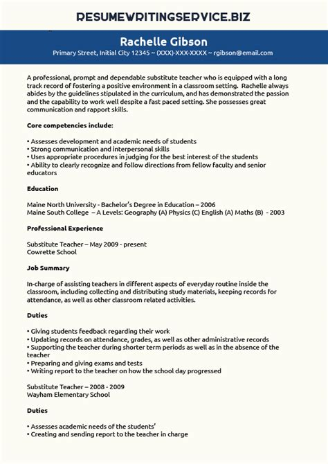 Teacher resume writer