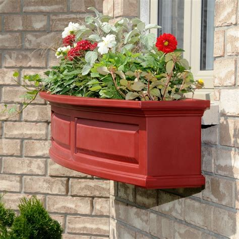 vinyl window flower boxes mayne nantucket 48 inch window box vinyl planter