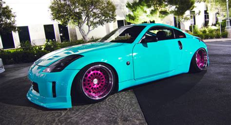 blue girly cars pink rims on