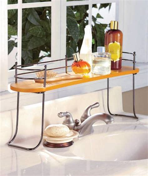 over the sink bathroom shelves storage organizer natural