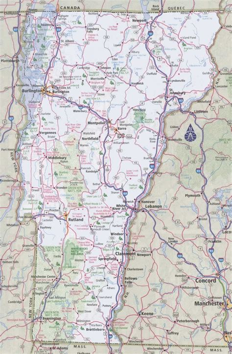 map of vt vermont road map