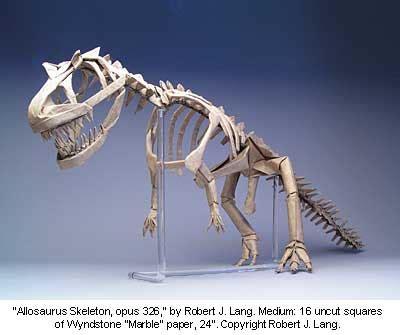 Origami T Rex Skeleton - ams