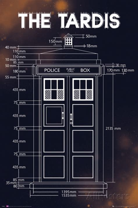 1000 images about a book is a tardis on doctor who tardis plans poster print 24x36 ebay