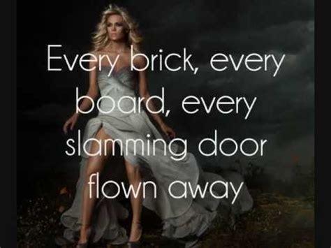 carrie underwood th single blown away carrie underwood blown away lyrics on screen youtube