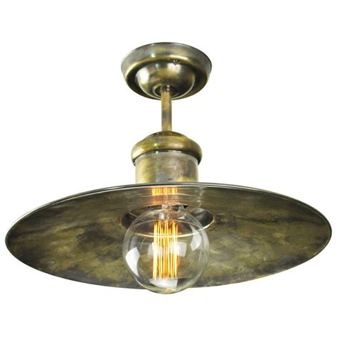 nautical style semi flush ceiling light antique finish