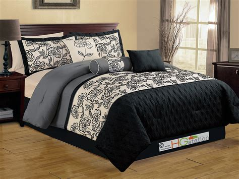 punk comforter 7 pc quilted diamond floral garden gothic comforter set