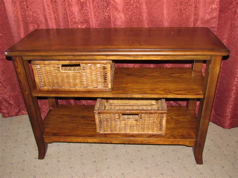 lot detail lovely matching sofa table with basket storage