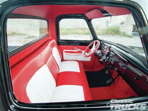 ford truck upholstery 1955 ford f 100 vs 1950 chevrolet pickup hot rod network