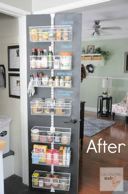 Laundry Organizer After Organized Back Of Door Pantry With Chalkboard