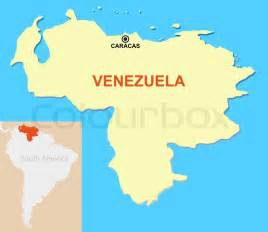 map of venezuela with instructions of capital and an