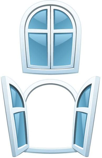 close window 3d home window open and closed vector free vector in