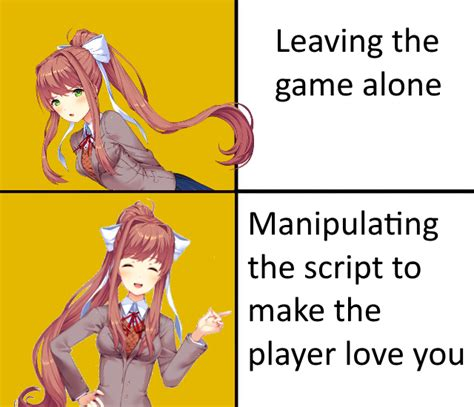 Monika Memes - another cool and good meme about monika ddlc