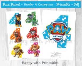 paw patrol number 4 centerpieces paw patrol centerpieces